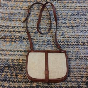 Fossil saddle and crossbody purse